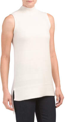 Textured Sleeveless Cashmere Tunic