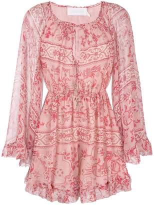 Zimmermann floral shift mini dress