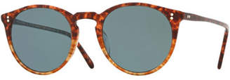 Oliver Peoples O'Malley Peaked Round Photochromic Sunglasses