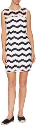 Milly Seamed Strip Shift Dress