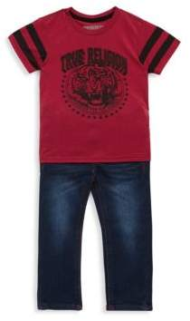 True Religion Little Boy's Two-Piece Cotton Tee and Jeans Set