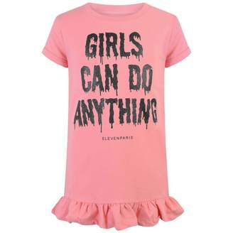 Little Eleven Paris Little Eleven ParisGirls Pink Sweater Dress