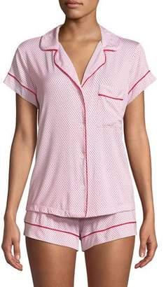 Eberjey Geo Dot Shortie Jersey Pajama Set