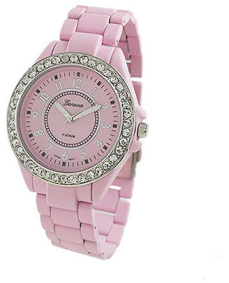 Geneva Platinum Womens Pink Bracelet Watch-2260