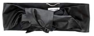 Saint Laurent Leather Silk-Lined Waist Belt