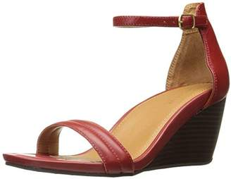 Kenneth Cole Reaction Women's Cake Icing Open Toe Wedge Sandal with Padded Straps
