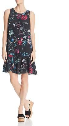 Rob-ert Robert Michaels Botanical Ruffle-Hem Dress