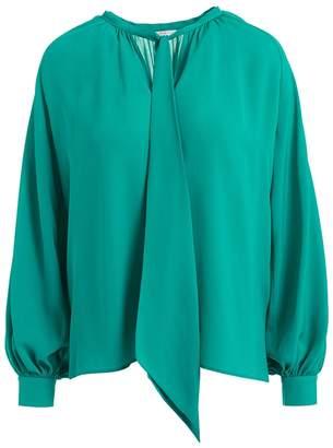 WtR - Valentin Green Scarf Silk Blouse