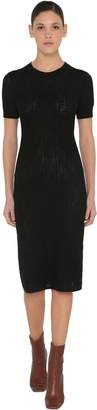 Fendi LOGO INTARSIA COTTON KNIT DRESS