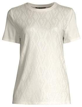 St. John Women's Soft Wash Jersey Tee - Cream - Size Medium