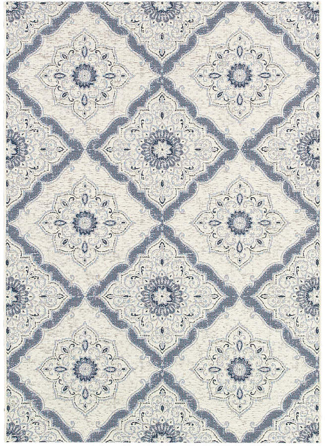 "Couristan Couristan Indoor/Outdoor Runner Rug, Dolce 4077/6025 Brindisi Ivory-Grey 2'3"" x 7'10"""