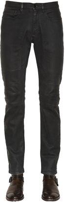 17cm Elmbridge Raw Stretch Biker Jeans $295 thestylecure.com