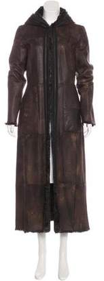 Barbara Bui Fur-Lined Long Coat