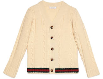 Children's cable cardigan with Web $310 thestylecure.com