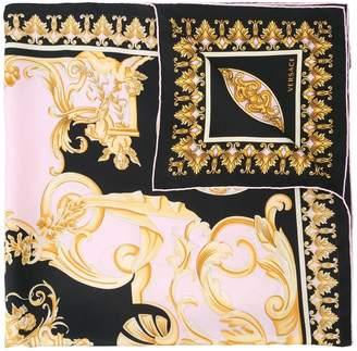 Versace Contrast Barocco print foulard