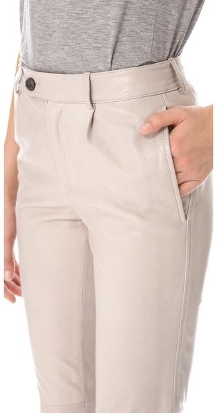 Alexander Wang Lightweight Leather Trousers