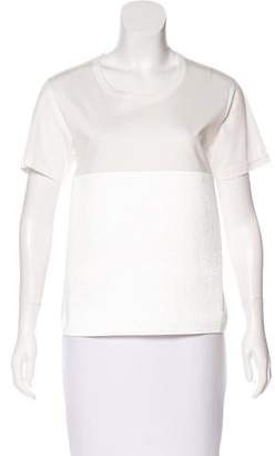 Noir Kei Ninomiya Structured Panel T-Shirt