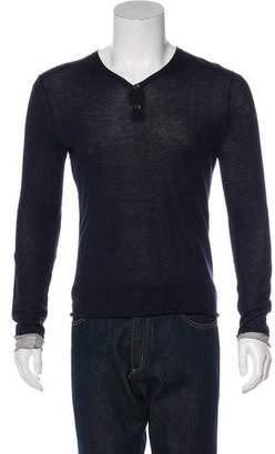 Rag & Bone Knit Henley Sweatshirt
