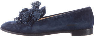 Christian Louboutin Christian Louboutin Suede Embellished Loafers