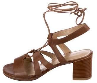 Stuart Weitzman Leather Lace-Up Sandals