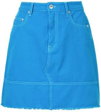 MSGM frayed denim skirt