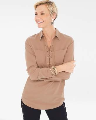 Chico's Silky Soft Lace-Up Tunic