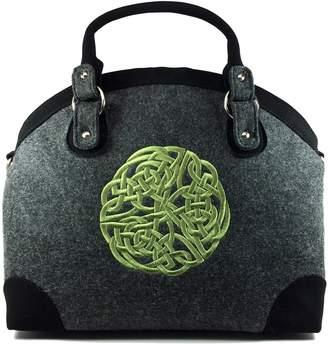 Celtic Mucros Irish Wool Bag-Grey & Green Knot-Made in Ireland