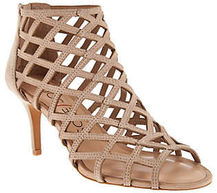 Sole Society Suede Caged High-heeled Sandals -Portia