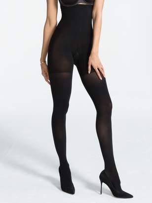 Spanx Lux Lg High-Waistd Tights, Vry Black