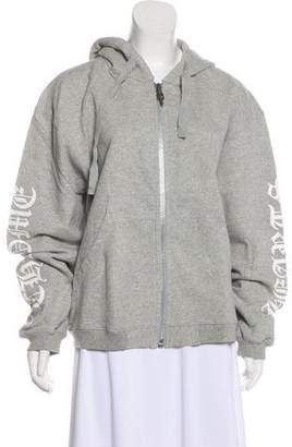 Chrome Hearts Hooded Zip-Up Sweatshirt