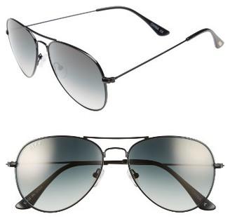 Women's Diff Cruz 57Mm Aviator Sunglasses - Black/ Grey $75 thestylecure.com