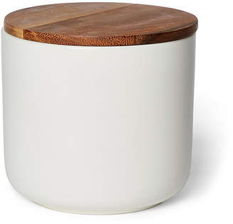 One Kings Lane Acacia Small Canister - White