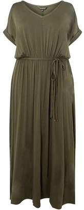 Dorothy Perkins Womens **DP Curve Khaki Jersey Maxi Dress