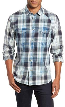Jeremiah Sawtooth Regular Fit Crosshatch Plaid Shirt