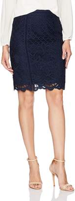 Cupcakes And Cashmere Women's Almont Lace Pencil Skirt