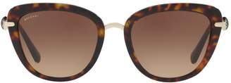 Bvlgari Havana Cat Eye Sunglasses