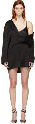 Alexander Wang Black Logo Mini Shirt Dress