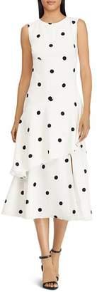 Ralph Lauren Polka Dot Crepe Dress