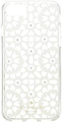 Kate Spade Jeweled Floral Mosiac Clear Phone Case for iPhone 8 Cell Phone Case