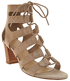 Marc Fisher Suede Lace-up Block Heel Sandals- Paradox