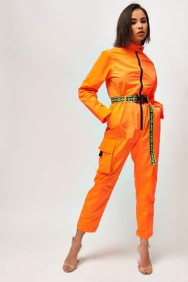 Jaded London Womens **Neon Orange Boiler Suit By Orange
