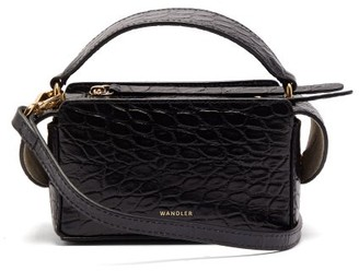 Wandler Yara Mini Crocodile Effect Leather Cross Body Bag - Womens - Navy