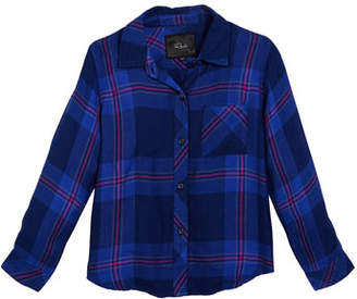 Rails Hudson Plaid Button-Down Top, Size 6-14