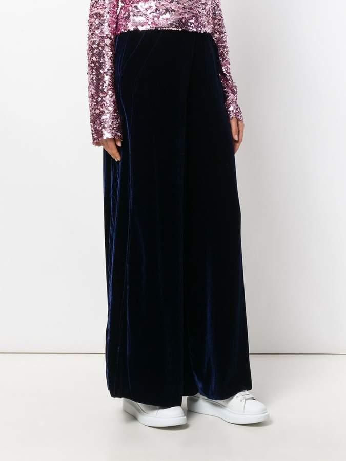 Aviu wide-leg textured trousers