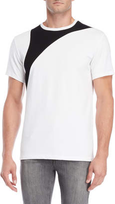 Karl Lagerfeld Paris Pique Color Block Tee