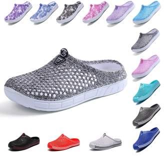 BA&SH OUYAJI Womens Summer Breathable Mesh Sandals,slippers,Beach Footwear,Water Shoes,indoor shoes,bash shoes,Walking,Anti-Slip,Garden Clog Shoes 40