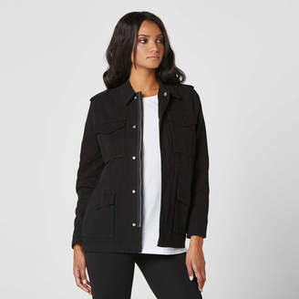 DSTLD Womens Military Jacket in Black