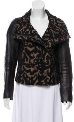 Diane von Furstenberg Marvela Leather-Accented Jacket