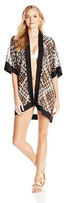 Jantzen Women's Animal Kimono Cover Up $82 thestylecure.com
