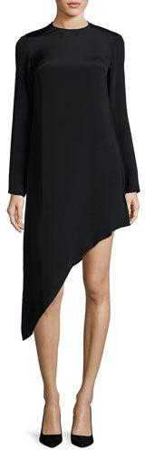 AlexisAlexis Helene Long-Sleeve Asymmetric Dress, Black